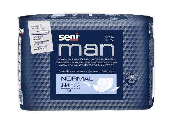 Inkontinenzeinlage für Männer, SENI Man Normal, leichte Inkontinenz