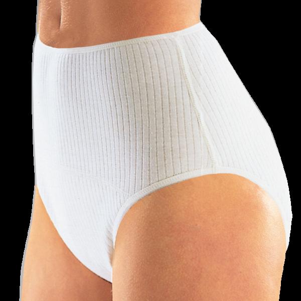 Baumwollslip 1275 für Sie, bei mittlerer Blasenschwäche, Weiß