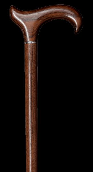 Gehstock aus Edelholz Nussbaum