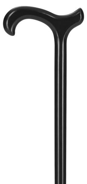 Gehstock aus Buchenholz mit Derbygriff in schwarz, für Sie und Ihn