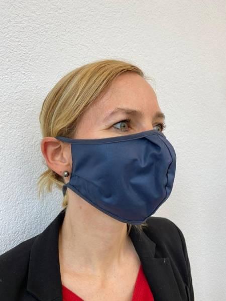 Gesichtsmaske waschbar, wiederverwendbarer Mundschutz, 100% Baumwolle