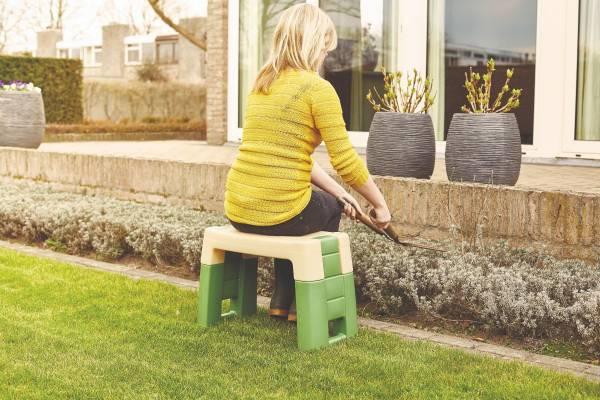 Sitzhilfe für Gartenarbeit