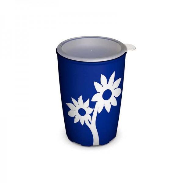 Ornamin Antirutsch-Becher Blume mit Deckel, 220 ml