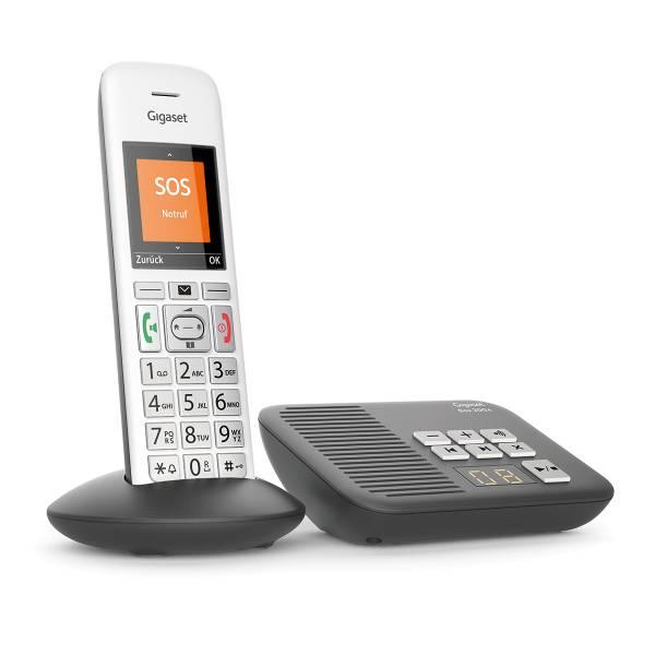 Gigaset E370A silber - Anrufbeantworter
