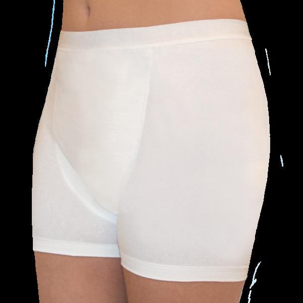 Baumwoll/Elasthan-Slip 1262 für Sie, bei leichter bis mittlerer Blasenschwäche, weiß
