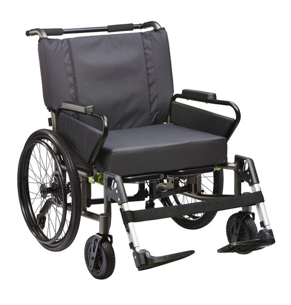 "Adipositas Rollstuhl ""tauron rsi"" bis 250 kg belastbar, faltbar"