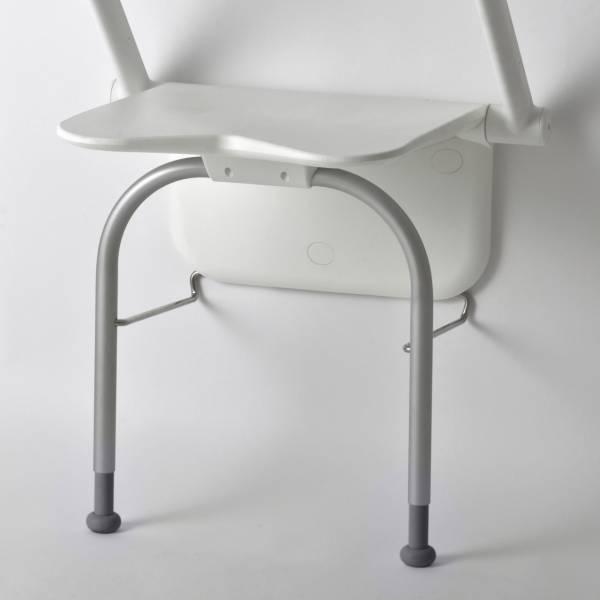 """Duschklappsitz """"Etac Relax"""" mit Stützbeinen, ohne Armlehnen, bis 150 kg belastbar"""