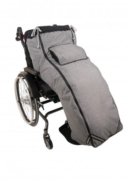 Rollstuhl Schlupfsack in Übergröße und seitlicher Öffnung