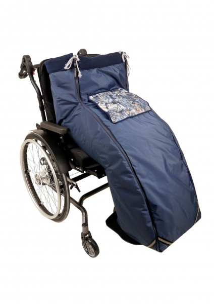 Rollstuhl-Schlupfsack XXL mit wind- und wasserabweisendem Außenstoff