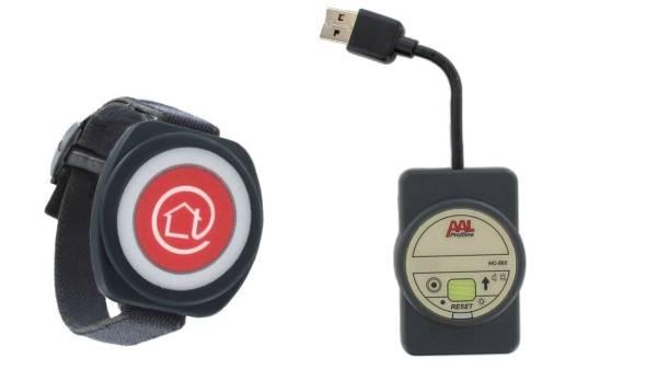 Funk-Notrufsender PROFILINE, Armbandsender + mobiler Alarmempfänger