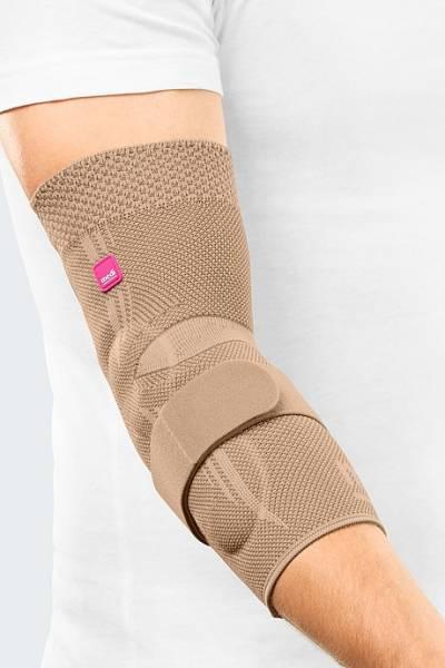 Epicomed® Ellenbogenbandage mit Silikon-Pelotte und Gurtband