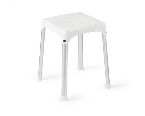 Bade- und Duschhocker, Sitzfläche quadratisch, bis 150 kg belastbar