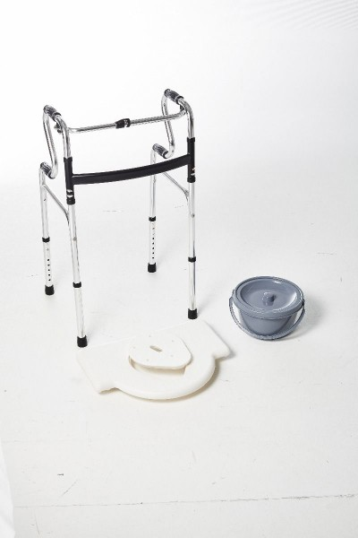 Multifunktions-Hilfmittel, 6 - in 1 Walker, höhenverstellbar, bis 150 kg belastbar