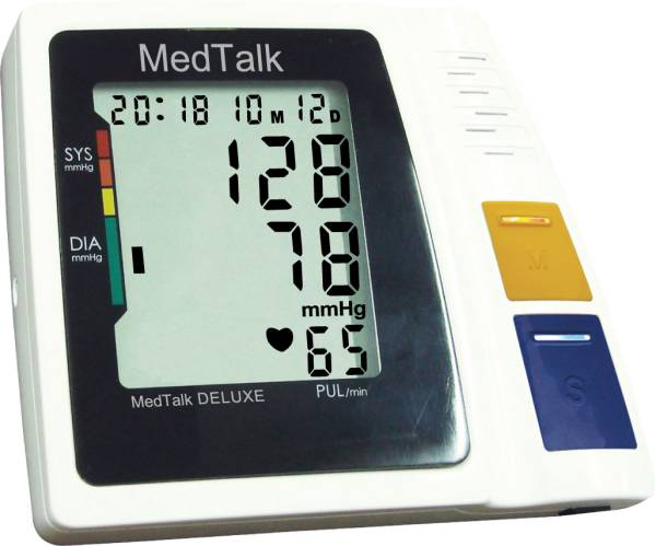 MedTalk Deluxe Oberarm Blutdruck-Messgerät mit Sprachausgabe