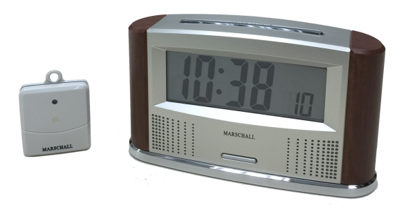 Sprechende Funkweckuhr mit kabellosem Innen/Außen-Thermometer