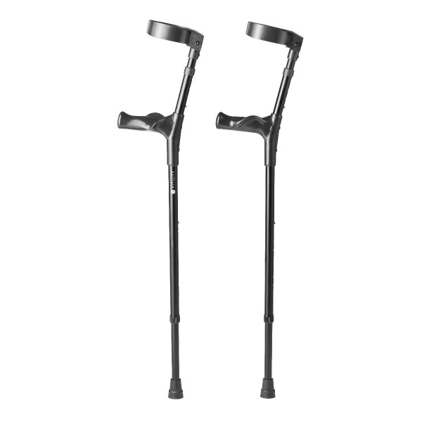 Krücken - 2 Stück, Aluminium, höhenverstellbar, bis 135 kg belastbar