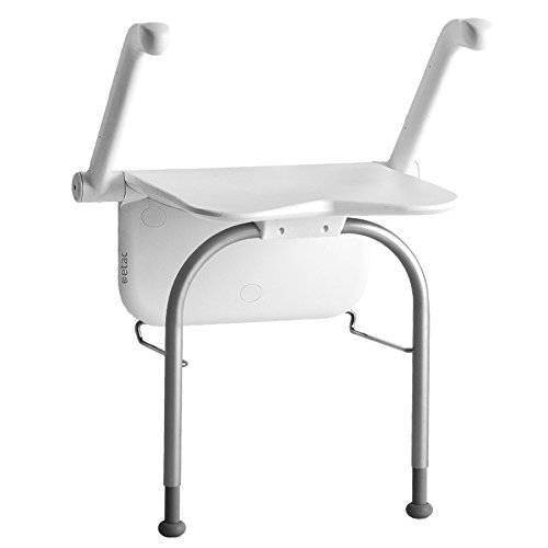Etac Relax Duschklappsitz mit Stützbeinen und Armlehnen, bis 150 kg belastbar