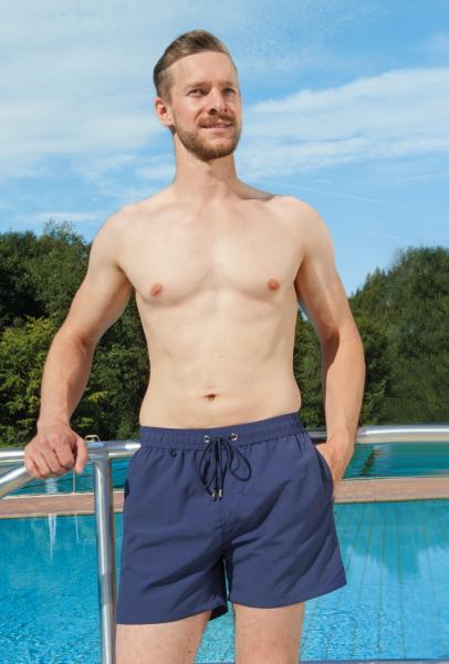Badeshorts mit eingenähtem Sicherheits-Slip 1533, Sicherheit bei Harninkontinenz, für Ihn, Blau