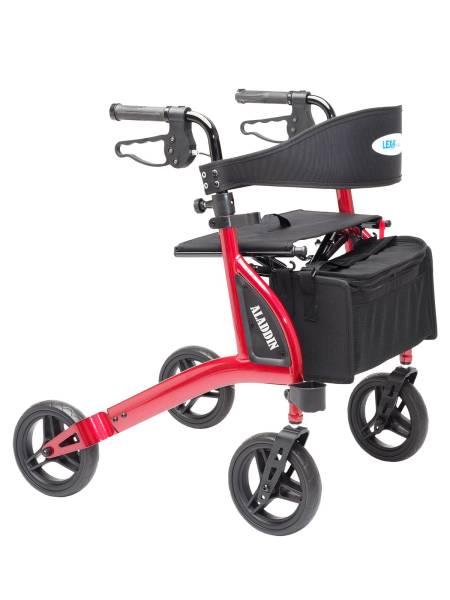 Leichtgewicht Rollator ALADDIN - inkl. Zubehör - Belastbar bis 120 kg