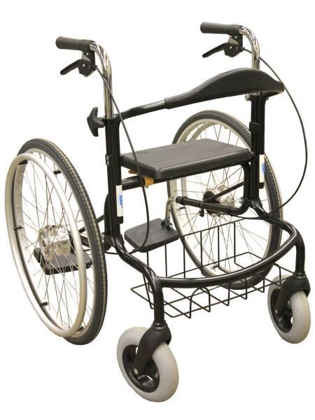Rollator Wheellator, Kombination aus Rollator, Rollstuhl und Trippelstuhl, faltbar, bis 150kg belast