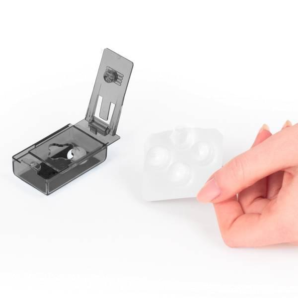 Tablettenstanzer - Bedienung mit nur einer Hand