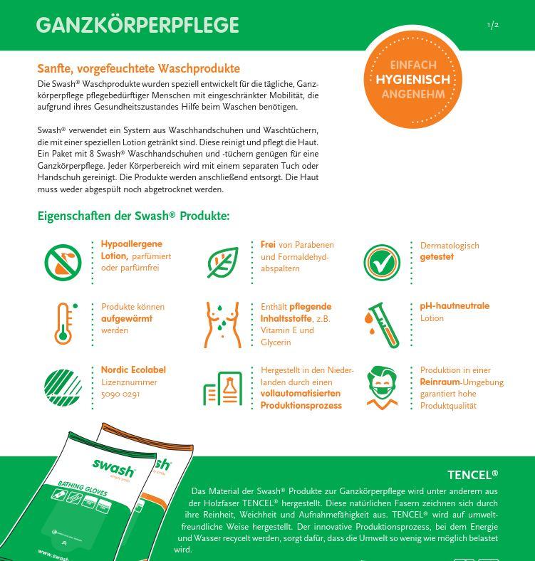 Datenblatt-Ganzk-rperpflege