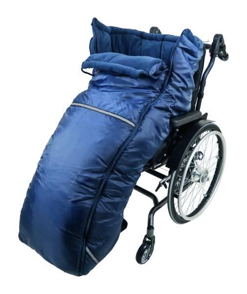 Rollstuhl-Schlupfsack mit wind- & wasserabweisendem Außenstoff