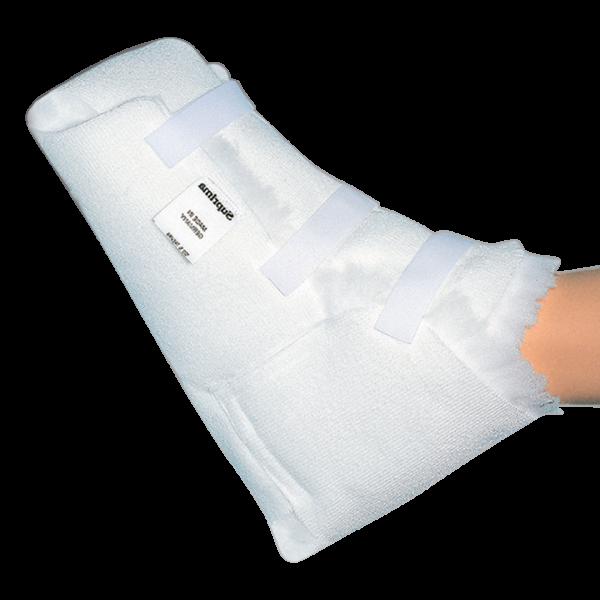 Fersenschuh 6035, für die Entlastung der Fersen, mit Klettverschluss, Weiß