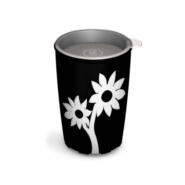 Ornamin Becher mit Blumen-design