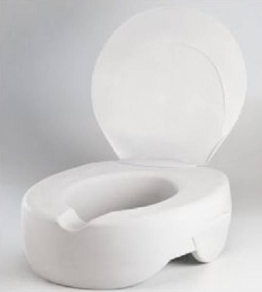 Toilettensitzerhöhung Soft, mit und ohne Deckel, Sitzerhöhung 11,5 cm, Weiß