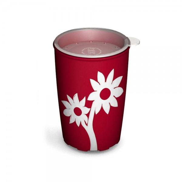 Ornamin Antirutsch-Becher Blume, 220 ml, mit Trinkdeckel, rundum gehende Trinköffnungen