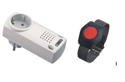 Armbandsender, Notrufknopf inklusiv Steckdosen-Funkgong Easywave