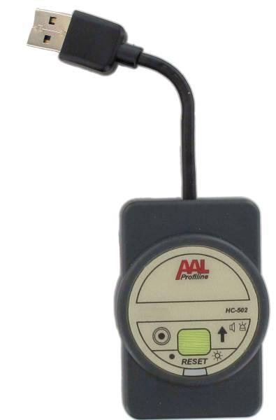 Mobiler Notrufempfänger, Signalgebung per Licht und Ton
