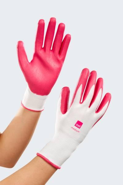 Textilhandschuhe als Anziehhilfe für Kompressionsstrümpfe von medi