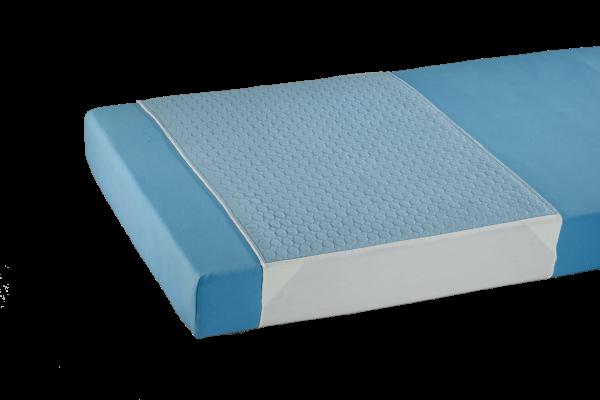 Mehrfach-Bettauflage 3106, Polyester, mit Seitenteilen , 75 x 160 cm, Blau