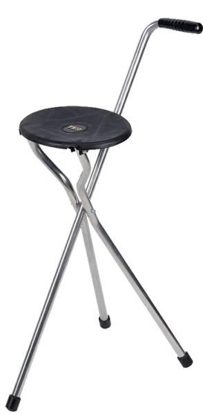 Klappbarer Sitzstock aus Leichtmetall, bis 100 kg belastbar