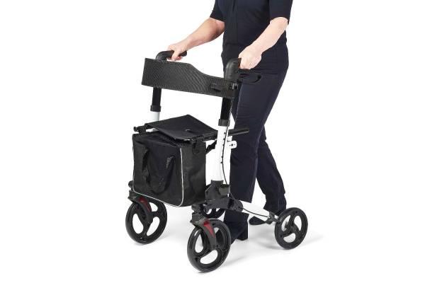 Rollator inkl. Aufbewahrungstasche, Rückengurt und Stockhalter