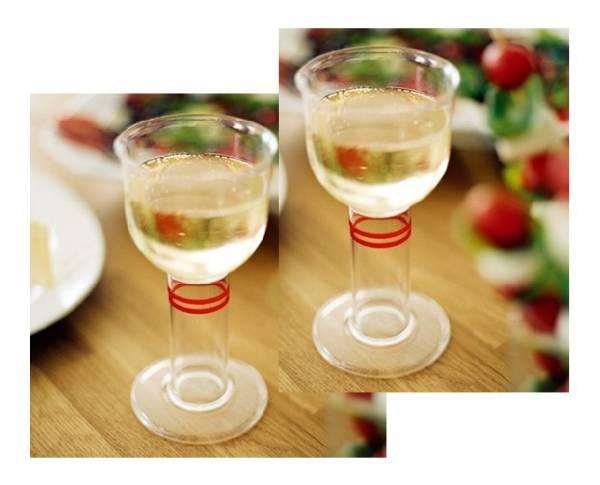 Hochwertiges Kunststoff-Trinkglas, in Kelchform, Doppelpack