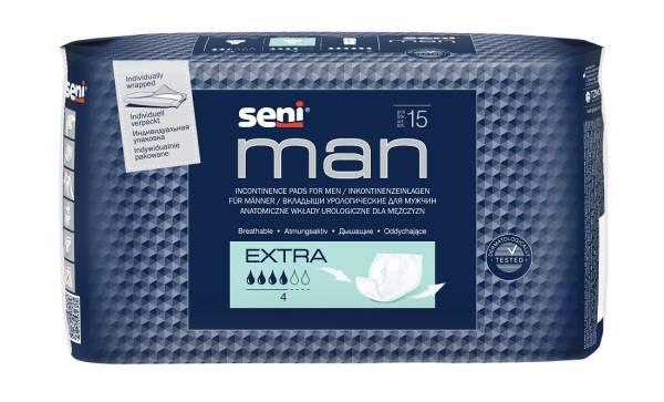 Slipeinlagen für Männer, SENI Man Extra, leichte bis mittlere Inkontinenz