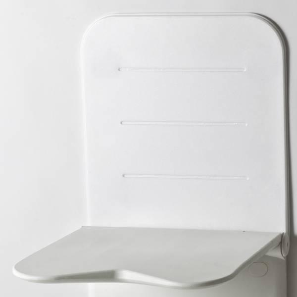 Rückenlehne für den RELAX Duschklappsitz von etac, weiß