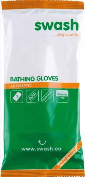 Swash® Gloves Antiseptic - milde antiseptische Körperreinigung, 8 Stück